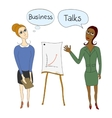 Business negotiations business women in business vector image vector image