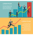 Business People Running Arrow Graph Up Climbing vector image vector image