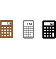 calculator icon on white background vector image vector image