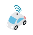 Car wi fi icon isometric 3d style vector image vector image