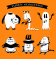 Cartoon funny monsters for Halloween holiday vector image