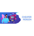cheating concept banner header vector image