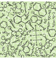 chemistry drawings seamless pattern vector image