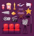 cinema movie making tv show equipment tools vector image vector image