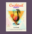 cocktail tequila sunrise on watercolor background vector image vector image