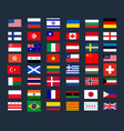 collection national official flags world vector image