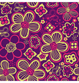 Colorful floral seamless pattern in cartoon style vector image vector image
