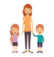 colorful image caricature full body mother taken vector image vector image