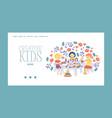 creative kids banner girls vector image vector image