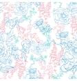 Detailed Kimono Flowers Drawing Seamless vector image vector image