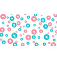 donuts seamless pattern on light pink background vector image vector image
