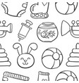 doodle of baby object collection stock vector image vector image