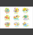 exotic summer travel set of logo graphic vector image vector image