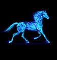 Fair Horse Run Blue 01 vector image vector image
