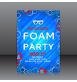 Foam party flyer with palm tree twigs vector image vector image