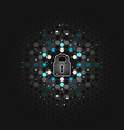global security concept abstract dark vector image vector image