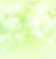 green sweet bokeh out of focus background vector image vector image