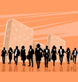 group of stylish people vector image vector image