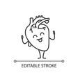 happy human heart emoji linear icon vector image