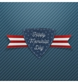 Happy Memorial Day patriotic Emblem and Ribbon vector image vector image