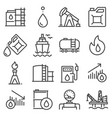 industry oil gray line icon set vector image vector image