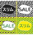 Ipanema beach pattern sale set vector image vector image