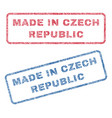 made in czech republic textile stamps vector image vector image