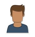man avatar profile vector image vector image