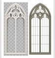 medieval gothic lancet window vector image