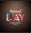 memorial day usa design template vector image