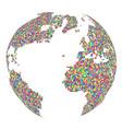 mosaic globe isolated on white background vector image vector image