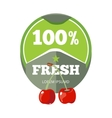 Natural organic fruits logo label badge template vector image vector image