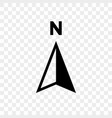 north arrow icon n direction point symbol vector image