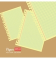 Paper notes and sheets vector image vector image
