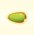 pistachio nut in cartoon style vector image vector image