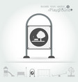 playground icon isolate set vector image vector image