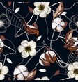 realistic isolated seamless flowers pattern vector image vector image