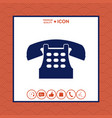retro telephone icon vector image vector image