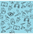 Robotic set pattern vector image vector image