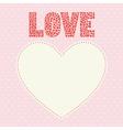 Romantic card16 vector image vector image