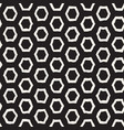 Seamless black and white pattern with hexagon