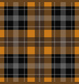 seamless orange black tartan - white stripes vector image vector image