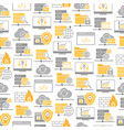 seamless pattern with icons of data center vector image