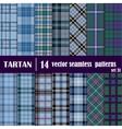 Set Tartan Seamless Pattern vector image vector image