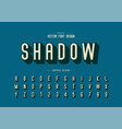 shadow font and alphabet letter typeface vector image vector image