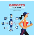 Smart Technology For Fitness vector image
