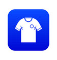 soccer shirt icon digital blue vector image