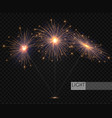 sparcler and firework christmas decoration lights vector image vector image
