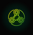Spinner green line icon vector image