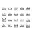 sports stadium line icon set vector image vector image